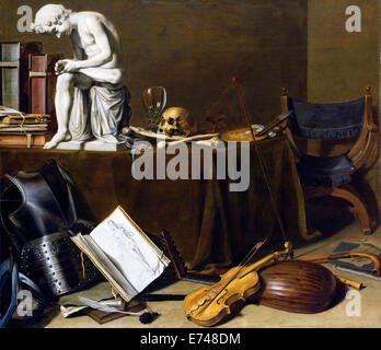 Still Life with the Spinario - by Pieter Claesz, 1628 - Stock Photo