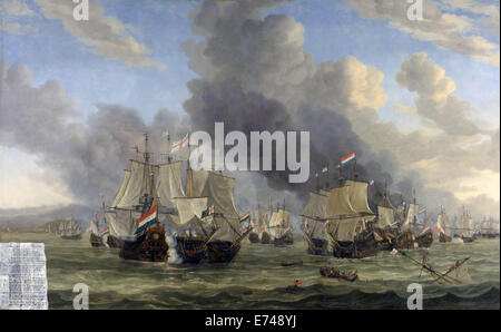 The Battle of Livorno - by Reinier Nooms, 1653 - 1664 - Stock Photo