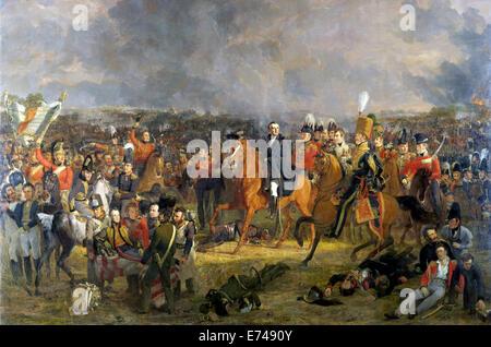 The Battle of Waterloo - by Jan Willem Pieneman, 1824 - Stock Photo