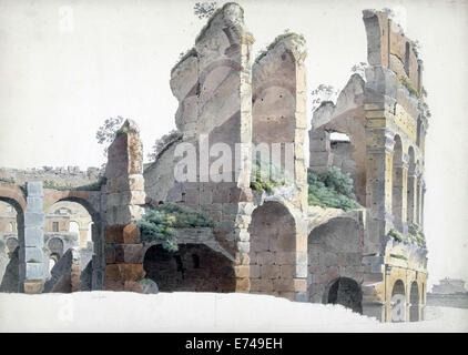 The Colosseum in Rome - by Josephus Augustus Knip, 1809 - Stock Photo