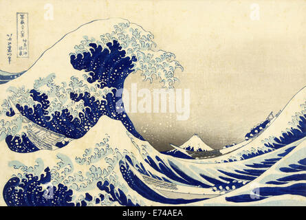 The Great Wave off Kanagawa - by Katsushika Hokusai, 1829 - 1833 - Stock Photo