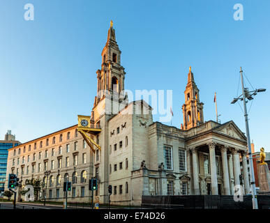 Leeds Civic Hall is a civic building housing Leeds City Council, located in Millennium Square, Leeds, West Yorkshire, - Stock Photo