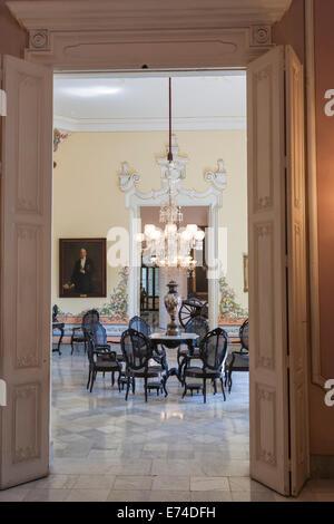 A room in the Palacio de los Capitanes Generales, now the Museo de la Cuidad (City Museum) - Stock Photo
