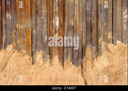 Rusted steel wall - Stock Photo