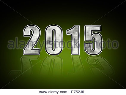 New Year's Eve - Sylvester 2015 - Stock Photo