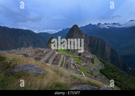 Machu Picchu early in the morning, Peru. - Stock Photo