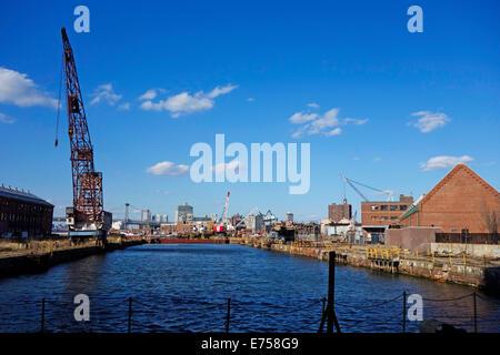 Brooklyn Navy Yard New York City NY - Stock Photo
