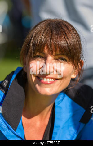 Liverpool, Merseyside, UK 7th September, 2014. Davina McCall at the Sky Ride event Tour of Britain. - Stock Photo