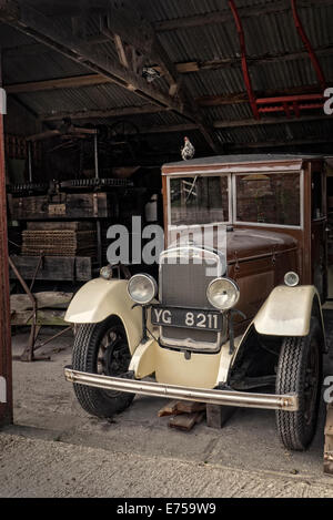 1934 Morris Commercial truck in a barn - Stock Photo