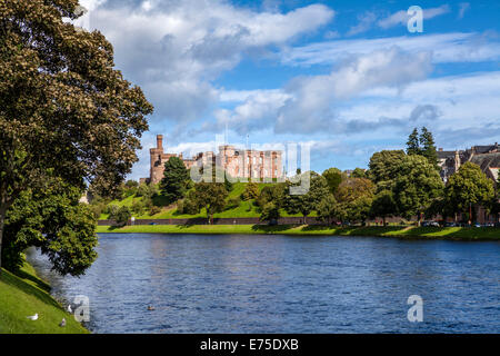 Inverness Castle taken from Ardross Street - Stock Photo