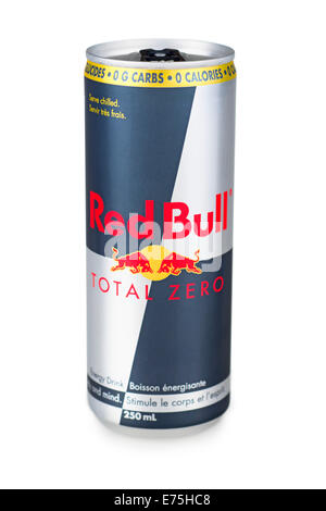 Red Bull, Total Zero Red Bull Can - Stock Photo