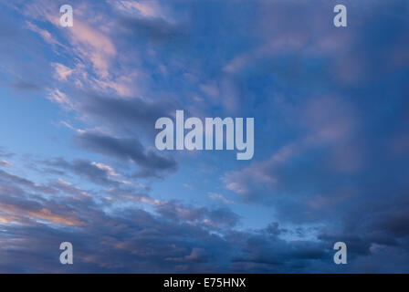 Clouds in a dusk sky - Stock Photo