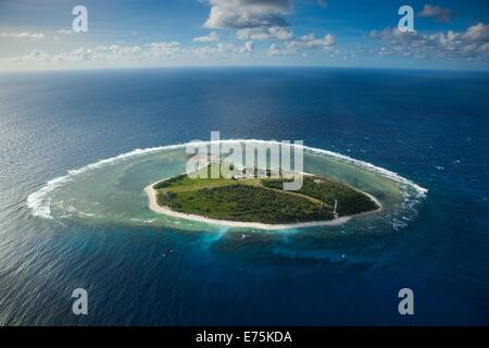 Aerial of Lady Elliot Island, Great Barrier Reef QLD Australia - Stock Photo