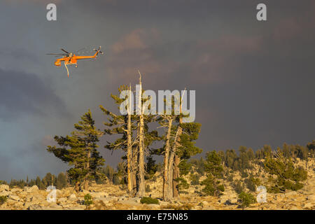 Yosemite National Park, California, USA. 7th Sep, 2014. September 7, 2014.An Aircrane helicopter, used to battle - Stock Photo