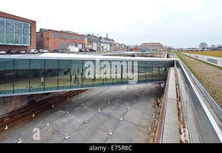 Danish Maritime Museum (M/S Museet for Sofart), Helsingor, Denmark. Architect: Bjarke Ingels Group (BIG), 2013. - Stock Photo