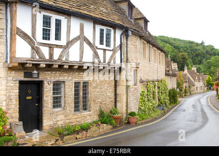The South Cotswold Village of Castle Combe regarded by some as  'The Prettiest Village in England',  Wiltshire, - Stock Photo