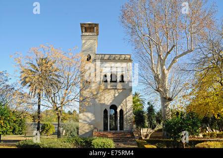 Building in the garden, Centro Andaluz de Arte Contemporaneo, La Cartuja, a former Carthusian monastery - Stock Photo