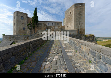 Castle with archaeological national museum, Museo Nazionale Archeologico Melfese, Melfi, Basilicata, Italy - Stock Photo