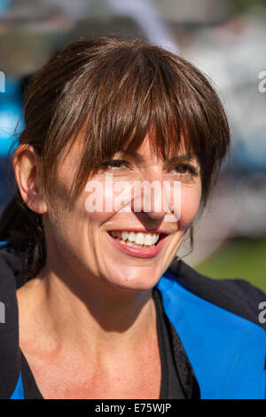 Liverpool, Merseyside, UK 7th September, 2014. Davina McCall at the Sky Ride event Tour of Britain. This year Sky - Stock Photo