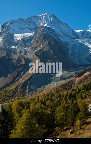 Pigne d'Arolla mountain, Arolla, Canton of Valais, Switzerland - Stock Photo
