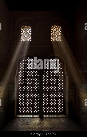 Islamic design alhambra palace spain stock photo for Alhambra decoration