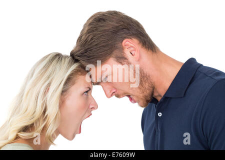 Young couple arguing with each other - Stock Photo