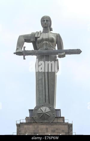 Mother Armenia statue at Victory Park, Yerevan, Armenia - Stock Photo