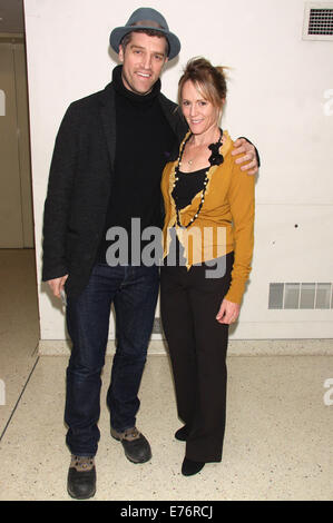 Opening night of the play 'Stage Kiss' at Playwrights Horizons Theatre - Arrivals.  Featuring: Jeremy Davidson,Mary - Stock Photo