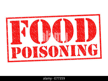 FOOD POISONING red Rubber Stamp over a white background. - Stock Photo