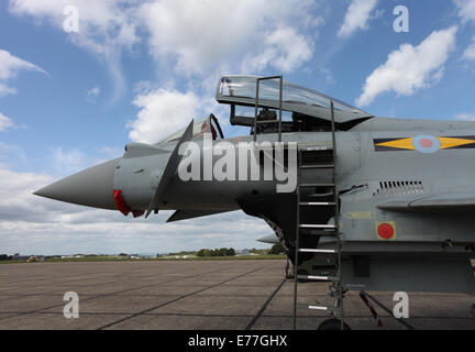 Two Eurofighters parked on the tarmac at Bigging Hill airport - Stock Photo
