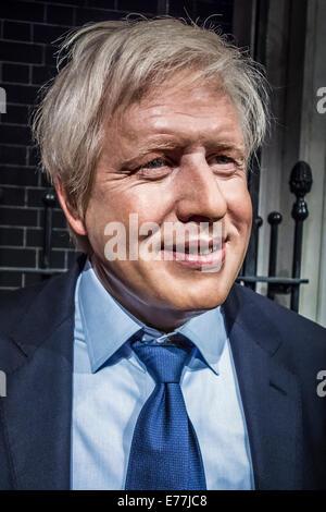 Boris Johnson at Madame Tussauds - Stock Photo
