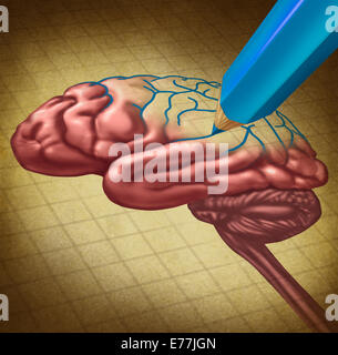 Repairing the brain and restoring lost memory medical concept as a human thinking organ with a missing portion being - Stock Photo