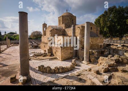 St Paul's Pillars, Paphos, Cyprus - Stock Photo