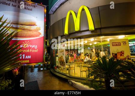 McDonald's restaurant, Ahmedabad, Gujarat, India - Stock Photo