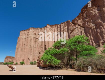 Cliffs, Talampaya National Park, La Rioja, Argentina - Stock Photo