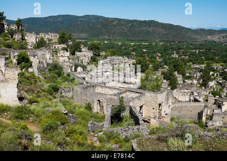 Kayaköy, originally known as Livissi ghost village near Fethiye, Turkish riviera, Turkey - Stock Photo