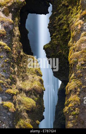 Gljúfurárfoss Waterfall, southern Iceland - Stock Photo