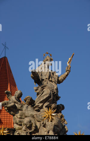 Jan Urbansky's Monument to St John Nepomuk, erected in 1730-1732, Wroclaw, Lower Silesia, Poland - Stock Photo