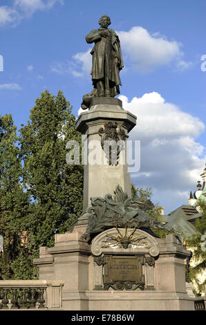 Adam Bernard Micki (1798-1855). Polish writer and political activist. Monument by Cyprian Godebski (1835-1909). - Stock Photo