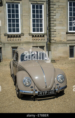 Beautifully maintained classic Volkswagen Beetle car. - Stock Photo