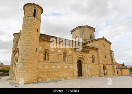 Famous Romanesque church of St Martin of Tours (11th Century) in Fromista, Castille and Leon, Spain. - Stock Photo