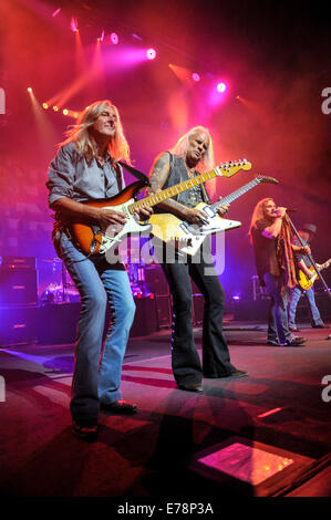 San Antonio, Texas, USA. 5th Sep, 2014. MARK MATEJKA, RICKEY MEDLOCKE, JOHNNY VAN ZANT, and GARY ROSSINGTON of the - Stock Photo