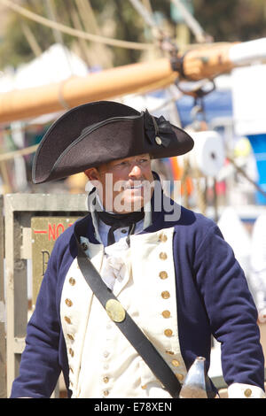 Entertainers in British sailors costume at the 30th Annual Toshiba Tall Ships Festival Dana Point Harbor Southern - Stock Photo