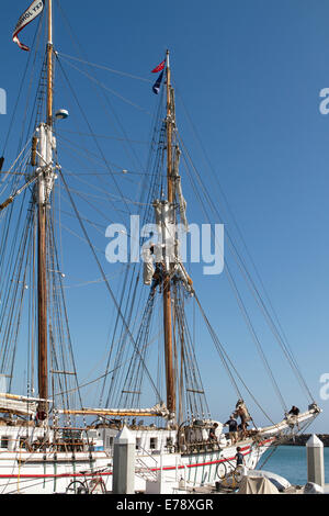 Crew members on the brigantine Exy Johnson at the 30th Annual Toshiba Tall Ships Festival Dana Point Harbor Southern - Stock Photo