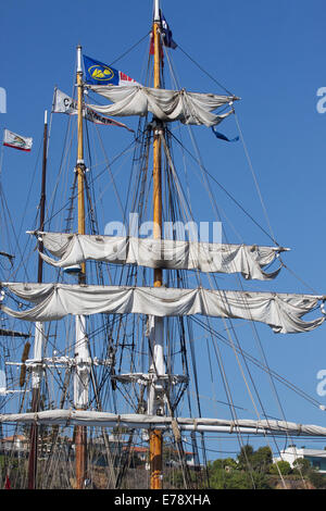 30th Annual Toshiba Tall Ships Festival in Dana Point Harbor Southern California - Stock Photo
