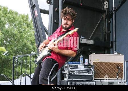 Raleigh, North Carolina, USA. 7th Sep, 2014. Music artist FOXY SHAZAM brings their 2014 Summer Tour to Raleigh, - Stock Photo