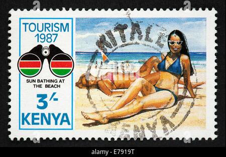 Kenya postage stamp - Stock Photo