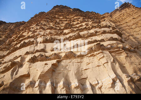 Sandstone cliffs and beach West Bay, Bridport, Dorset, England - Stock Photo