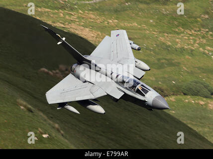 RAF Marham Tornado GR4 sweeps through Mach Loop - Stock Photo