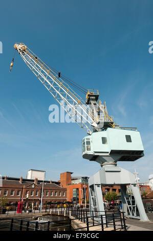 Stothert & Pitt crane Gunwharf Quays Portsmouth Hampshire England - Stock Photo